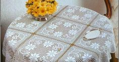 Crochet Diagram, Crochet Chart, Filet Crochet, Crochet Patterns, Crochet Tablecloth, Crochet Doilies, Vintage Crochet, Diy And Crafts, Knitting