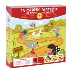 Voici un jeu de parcours drôle et original. Chaque souris tente d'arriver la première dans une course pleine de rebondissements ! Un jeu familial qui amusera les enfants dès 5 ans.