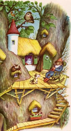 Illustration, The Tall Book of Make-Believe' ~ by Jane Werner, illustrated by Garth Williams Art Magique, Garth Williams, Pomes, Children's Book Illustration, Book Illustrations, Little Presents, Vintage Children's Books, Baby Kind, Nursery Rhymes