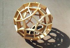 Wood Rhombicosadodecahedron by ~RND Modelshop, via Flickr