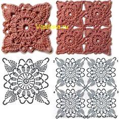 Watch The Video Splendid Crochet a Puff Flower Ideas. Phenomenal Crochet a Puff Flower Ideas. Crochet Motifs, Granny Square Crochet Pattern, Crochet Flower Patterns, Crochet Diagram, Crochet Stitches Patterns, Crochet Squares, Crochet Designs, Crochet Flowers, Crochet Lace