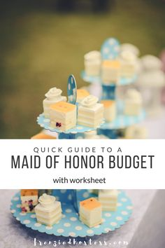 Figuring out how to budget your maid of honor duties is easier when you have a plan and a worksheet.