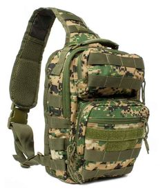 Red Rock Rover Sling Pack - Woodland Digital Camo - Are you looking for a economical, convenient and compact EDC (Every Day Carry) bag? The Rover Sling Pack is for you. It is manly, functional and very conformable to wear. The pack is perfect for short hikes, bird watching, fishing, hunting and biking. Get it at http://zuffel.com/collections/sling-bag/products/rover-sling-pack-woodland-digital-camo