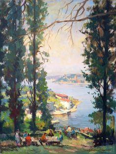 Landscape by Turkish Painter Ayhan Türker Landscape, Painters, Art, Art Background, Landscape Paintings, Kunst, Gcse Art, Scenery, Art Education Resources