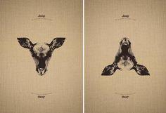 Dois animais diferentes podem ser vistos na mesma ilustração