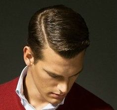 Hard Part Hairstyle | Classic longer top, hard part with short sides. My brother needs this ...