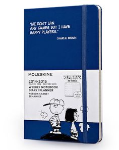 - Part 4 (which means page 4 of this website)  I love this moleskine journal... Charlie Brown... we don't win any games but I have happy players ~!~