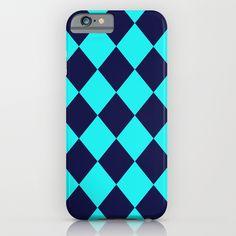 Diamonds Navy Turquoise iPhone & iPod Case