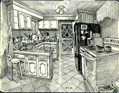 in the kitchen by paul heaston, via Flickr