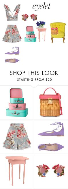 """""""eyelet"""" by susibonvi ❤ liked on Polyvore featuring Mark Cross, Zimmermann, Carla G., Lucille and Les Néréides"""