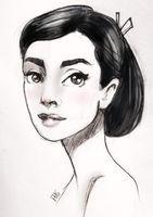 Audrey Hepburn by Alemchl