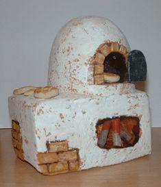 Manualidades - Horno de panadero para tus belenes Christmas Nativity Scene, Miniature Houses, Fairy Houses, Cold Porcelain, Tricks, Dollhouse Miniatures, Ceramics, Projects, Crafts