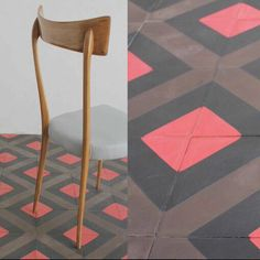 Great rasperry color! Rep-stripe from popham design. #floor #design #handmade #colors #pattern #pophamdesign #cementtiles Floor Design, Flooring, Rugs, Colors, Table, Pattern, Handmade, Furniture, Home Decor