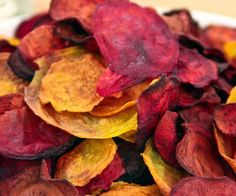 Roasted beet chips