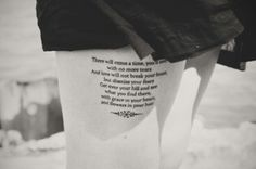 """Another mumford and sons tattoo<3 AND it just so happens to be my favorite lyric """"There will come a time you'll see with no more tears and love will not break your heart but dismiss your fears, get over your hill and see what you'll find there, with grace in your heart and flowers in your hair"""""""