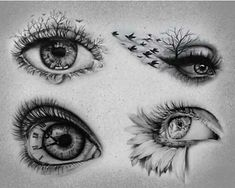 Realistic Inspiration Inkstinct – tattoos for women half sleeve Cool Art Drawings, Pencil Art Drawings, Art Drawings Sketches, Tattoo Sketches, Tattoo Drawings, Tattoos For Women Half Sleeve, Sleeve Tattoos, Eye Drawing Tutorials, Eyes Artwork