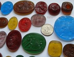 Someone asked me about glass paste intaglios so here are some colourful ones cast at my studio. Comment or dm if interested    #intaglio #cameo #glasspaste #tassie #gem #carvedgem #seal #sigillo #handmade #glass #colorfulglass #colorfuljewelry #colourful #candy #eyecandy #candyshop #jewelry #jewellery #ancientjewelry #ancientjewellery #miniature #sceau #sceaux #precious #castglass #candyjewelry #candyglass