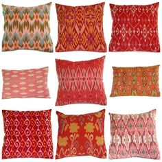 Ikat Pillows from ginette 1223 on Etsy