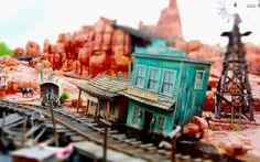 Model Train Western Town Wallpaper