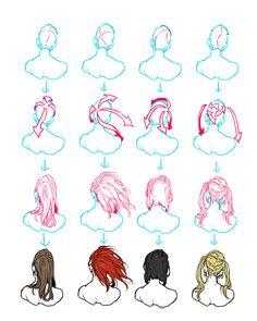 Referência cabelo feminino de costas