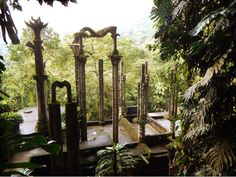 Awesome concrete structures located in the middle of a Mexican rainforest....bucket list item. Los Pozas is a must.