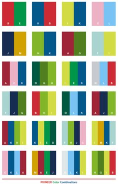 Pioneer Color Combinations Paleta De Colores Azul Pintura Combinación