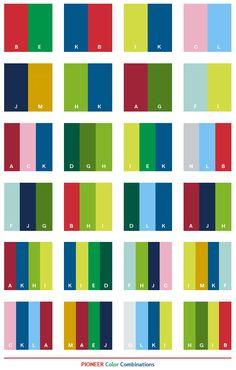 Pioneer Color Combinations Balance Logo Schemes Colour Board