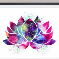 Watercolor lotus for my wrist tattoo.