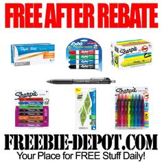 FREE AFTER REBATE – Pens & Markers exp 2/9/13