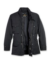 Barbour - Comfort and classic military style define this men's navy sapper jacket.