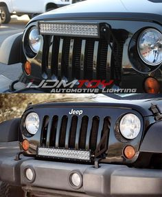 """Our front bumper grill mounted 20"""" 120W LED light bar for the 2007-2017 Jeep Wrangler can be mounted in the upper or lower grill area. How would you mount this LED light bar?"""