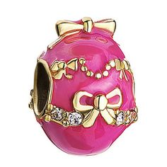 New. Painted red Faberge egg charm beads. Suitable for Pandora bracelets and beads for jewelry making