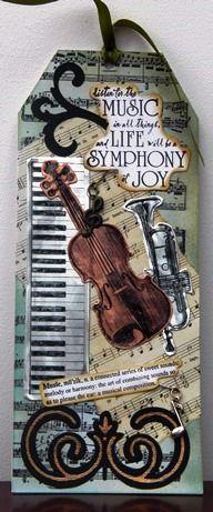 Tag: music, piano keyboard, violin, trombone, symphony, life, joy