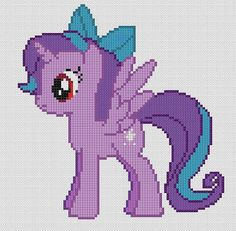 Counted Cross Stitch Pattern, My Little Pony, Friendship is Magic Evening Starlight, PDF Pattern, Hand Designed by CrossFandomXStitch