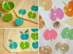 Realizza timbri personalizzati utilizzando come base dello stampino della frutta! #frutta #timbri #DIY #timbro
