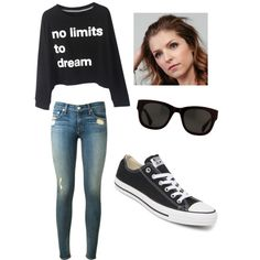 No limits to dream by jazzyboo-395 on Polyvore featuring polyvore, fashion, style, rag & bone and Converse