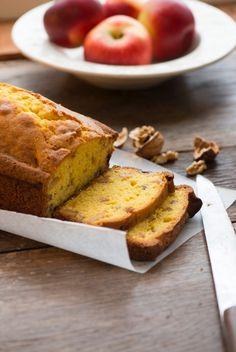 recette pommes bio  juliet : cake noix et pomme