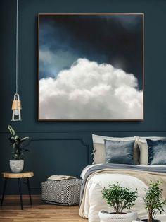 """""""Cumulus II"""" Cloud Painting - CORINNE MELANIE ART - #art #Cloud #corenne #Corinne #Cumulus #II #MELANIE #Painting"""
