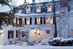 A wreath in every window