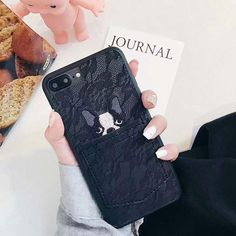 Dog embroidering phone Case For iphone