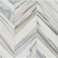Talya Multi Finish Bosphorus Sky Marble Waterjet Mosaics 13 7/16x 13 7/16 - From Country Floors of America