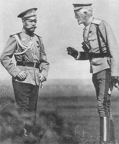 Николай II и великий князь Николай Николаевич. 1913 год.