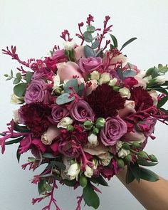 Unusual purple bouquet