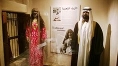 Traditional Gulf attire for women and men.