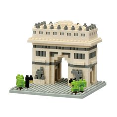 "Now you can nano-size your very own Arc de Triomphe. With these micro-sized building blocks, 3D models take shape right beneath your fingertips! You will be amazed as the Arc de Triomphe is assembled to the tiniest detail. With over 495 assorted pieces, create a detailed replica of the world famous, Arc de Triomphe that fits perfectly in the palm of your hand. Finished size of 2.5"" h x 3.125"" w x 3.125"" d. Includes detailed color instructions."