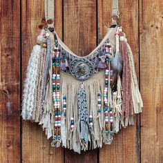 Boho inspired bags and accessories made by hand in heart of Europe Diy Gifts To Sell, Yarn Wall Art, Hippie Purse, Diy Tote Bag, Denim Crafts, Europe Fashion, Fringe Bags, Boho Bags, Leather Gifts