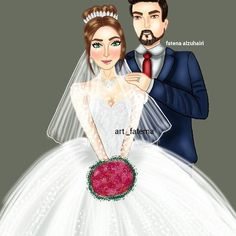 Wedding Hijab, Wedding Couples, Weddings, Disney Princess, Disney Characters, Photos, Art, Fashion, Wedding