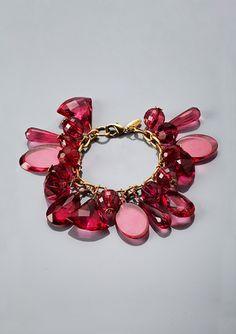 LENORA DAME Lucite Charm Bracelet