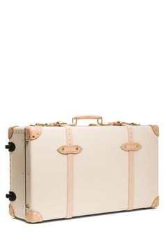 """30"""" Safari Suitcase with Wheels in Ivory & Natural"""