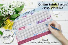 Qadha Umri Free Printable- Email to get yours now! Free Printables, Bullet Journal, Design, Free Printable